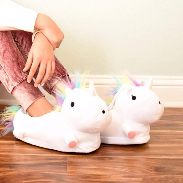 Comfy Magical Unicorn Slippers Magical Color-Changing LED / White Unicorn Slippers trendpicky