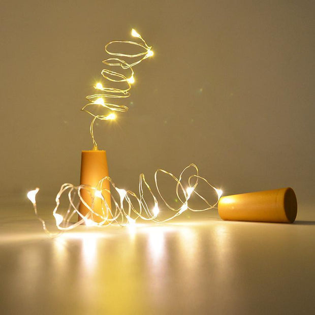 Cork Wine Bottle String Light Lights trendpicky
