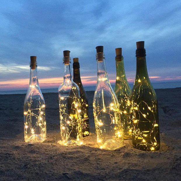 Cork Wine Bottle String Light Warm White Lights trendpicky