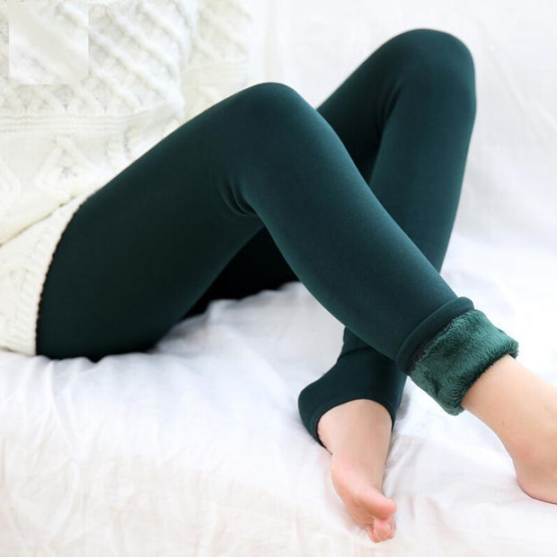 Cozy Faux Fur Leggings S / Green Cozy Fur Leggings trendpicky