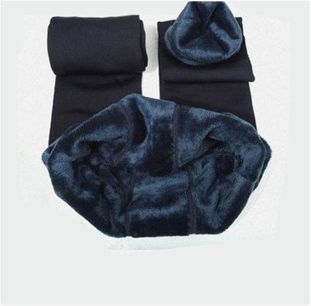 Cozy Faux Fur Leggings S / Navy Blue Cozy Fur Leggings trendpicky