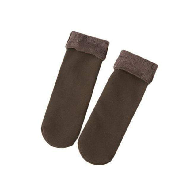 Cozy Faux Fur Socks Brown Cozy Faux Fur Socks trendpicky