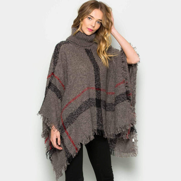 Cozy Poncho Sweater Grey Sweater trendpicky