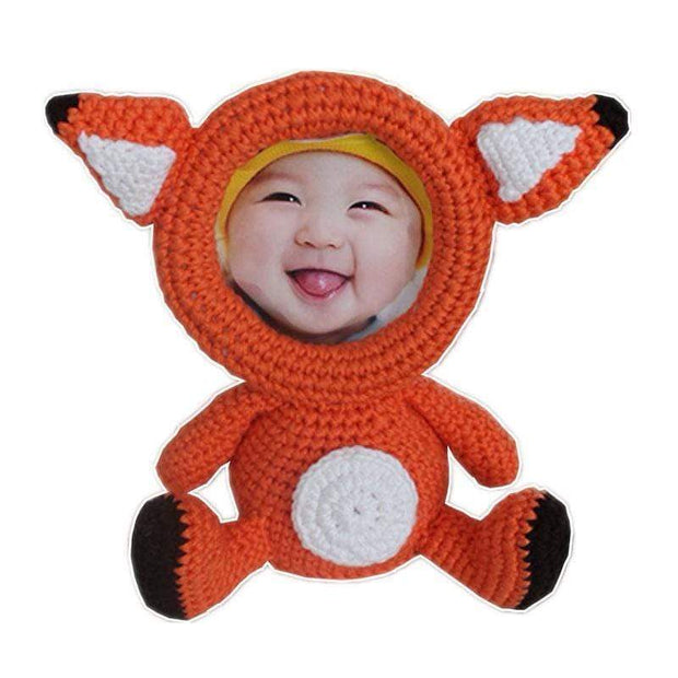 Crochet Animals Photo Frame Fox Knitted Animals Photo Frame trendpicky