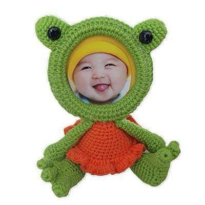 Crochet Animals Photo Frame Frog Knitted Animals Photo Frame trendpicky
