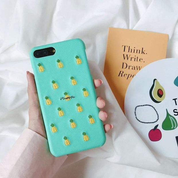 Cute Fruit iPhone Cases Pineapple / For iphone 6 6s iPhone Cases trendpicky