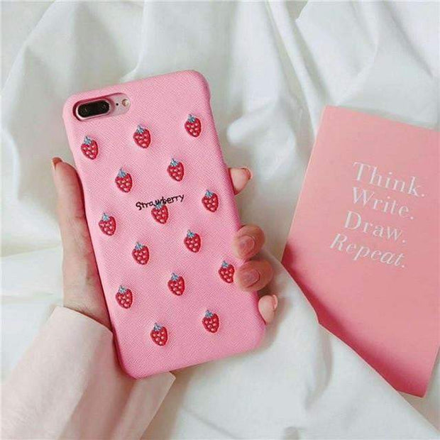 Cute Fruit iPhone Cases Strawberry / For iphone 6 6s iPhone Cases trendpicky