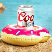Cute Pool/Beach Cup Holders Pink Frosted Donut Cup Holders trendpicky
