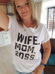 Cute Wife Mom Boss T-Shirt T-Shirt trendpicky