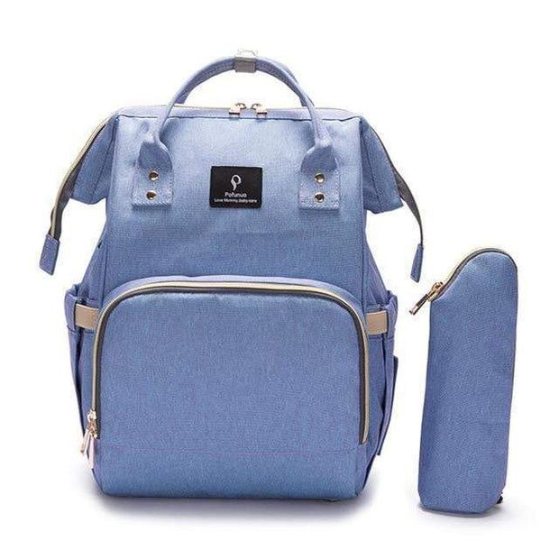 Durable Large-Capacity Diaper Bag blue purple Diaper Bag trendpicky