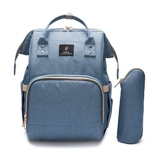 Durable Large-Capacity Diaper Bag light blue Diaper Bag trendpicky