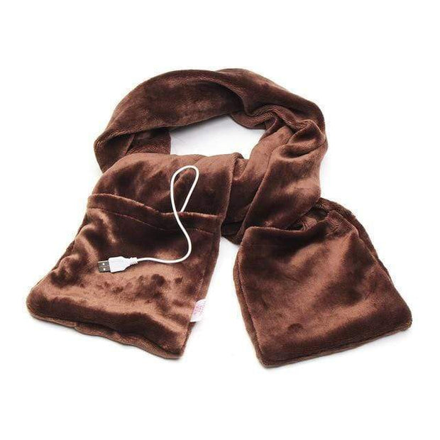 Electric Heated Scarf Brown Electric Heated Scarf trendpicky