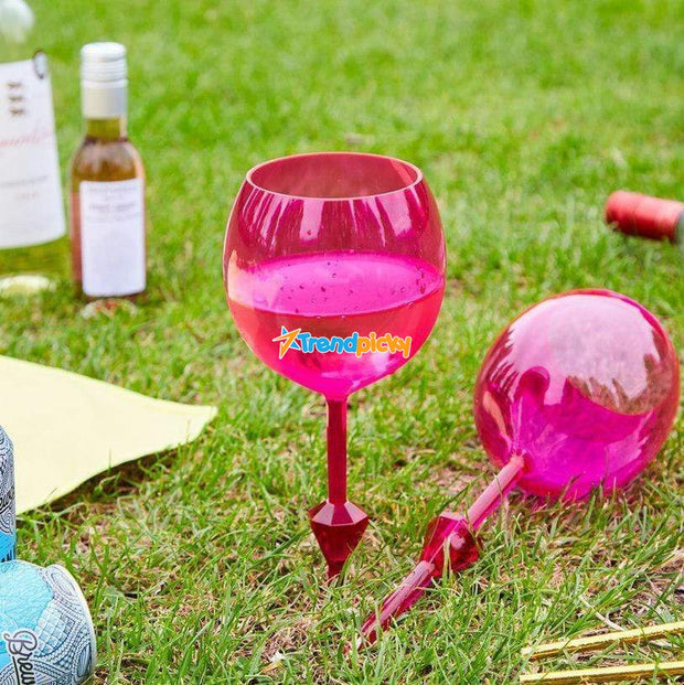 Floating Wine Glass Pink Floating Wine Glass trendpicky
