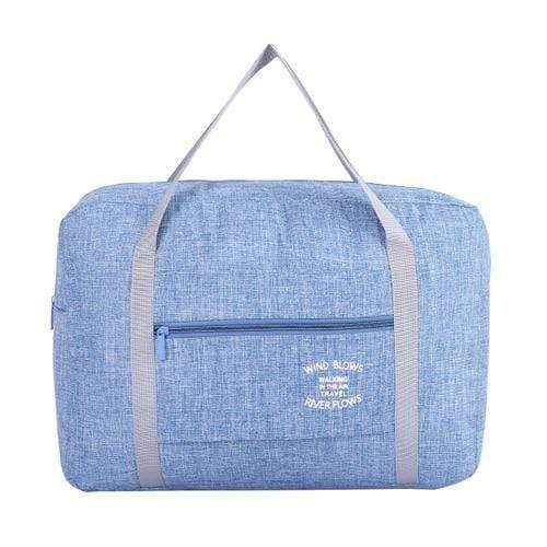 Foldable Weekender Bag Blue Foldable Weekender Bag trendpicky