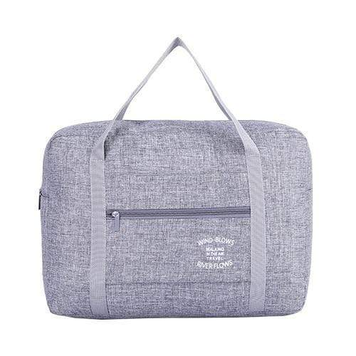 Foldable Weekender Bag Gray Foldable Weekender Bag trendpicky