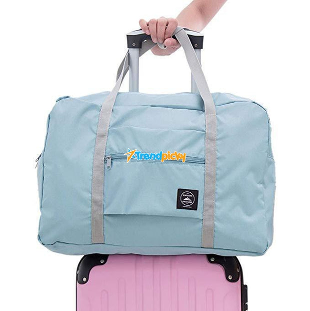 Foldable Weekender Bag Light Blue Foldable Weekender Bag trendpicky