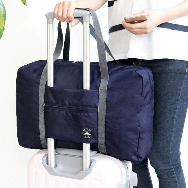 Foldable Weekender Bag Navy Foldable Weekender Bag trendpicky