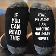 Hallmark Movies Socks Black & White Leave Me Alone I Am Watching Hallmark Movies Socks trendpicky