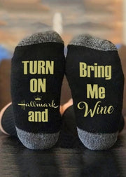 Hallmark Movies Socks Wine & Hallmark Movies Leave Me Alone I Am Watching Hallmark Movies Socks trendpicky