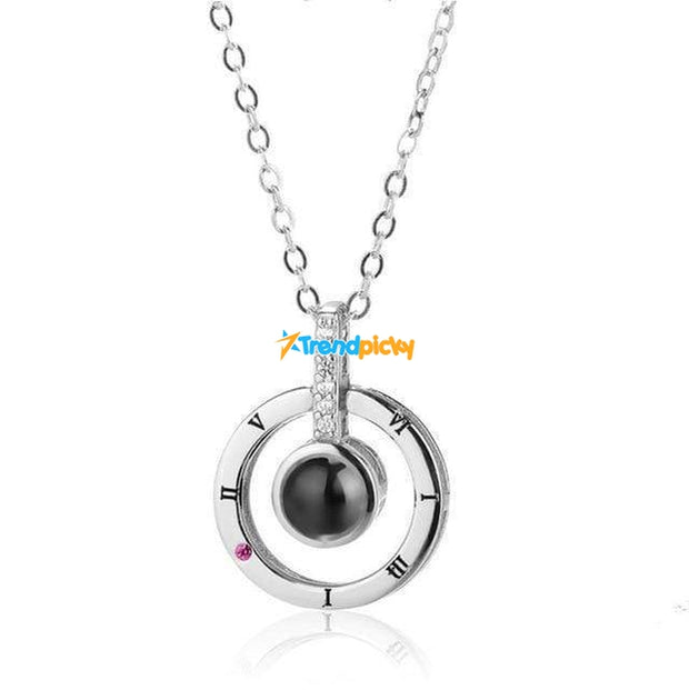 Hidden Message Lovers Necklace Circle Pendant Silver Hidden Message Lovers Necklace trendpicky