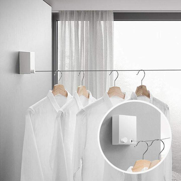 Invisible String Clothesline White trendpicky