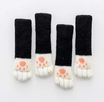 Kitty Paw Chair Socks Black Kitty Paw Chair Socks trendpicky