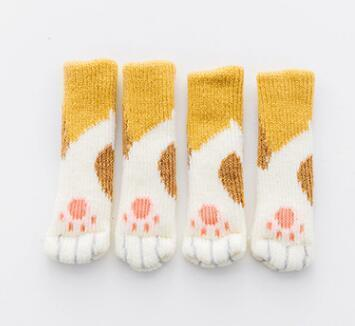 Kitty Paw Chair Socks Yellow Kitty Paw Chair Socks trendpicky