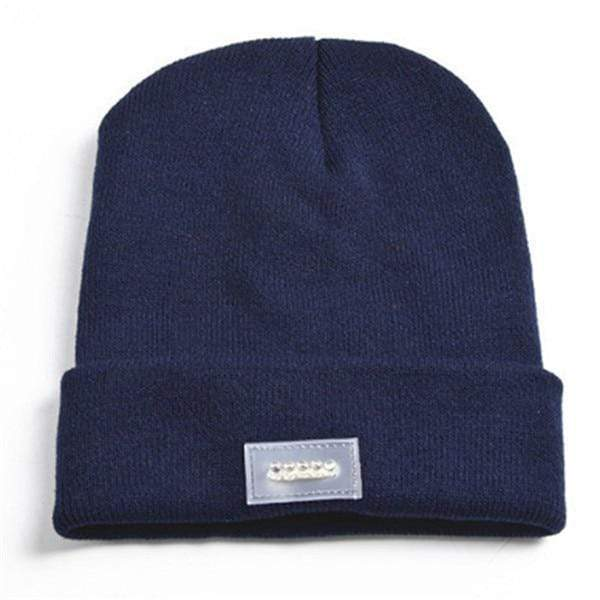 Knit Tactical Beanie Hat (Unisex) Navy Knit Tactical Beanie Hat trendpicky