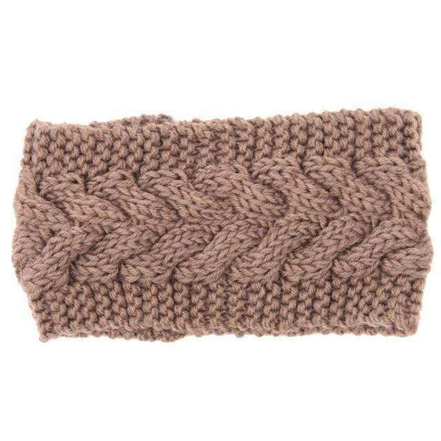 Knitted Ear Warmer Headwrap Khaki Clothes trendpicky