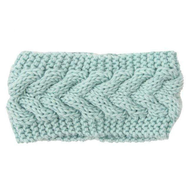 Knitted Ear Warmer Headwrap Mint Clothes trendpicky