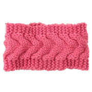 Knitted Ear Warmer Headwrap Pink Clothes trendpicky
