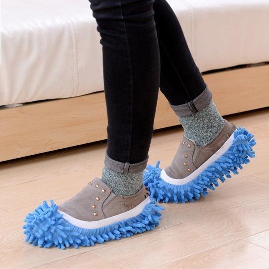 Lazy Mop Slippers Blue Lazy Slippers trendpicky
