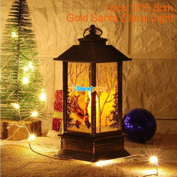 Led Christmas Candles Gold Santa Claus trendpicky