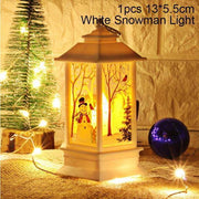Led Christmas Candles White Snowman trendpicky