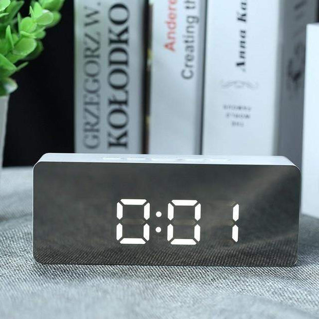 LED Mirror Digital Alarm Clock Rectangle led mirror clock trendpicky