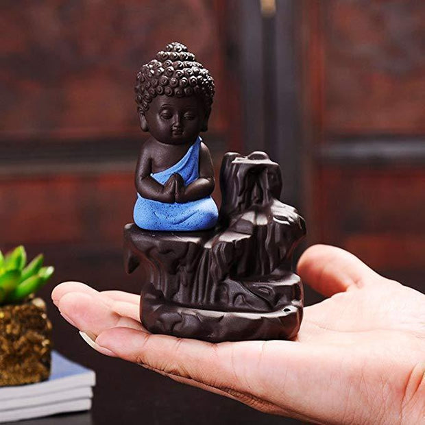 Little Buddha Incense Holder Blue Little Buddha Incense Holder trendpicky
