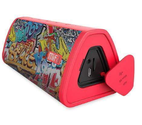 Loud Portable Bluetooth Speaker Red-Graffiti trendpicky