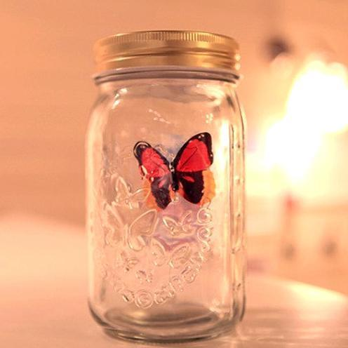 Magic Butterfly Jar Orange Butterfly Magic Butterfly Jar trendpicky