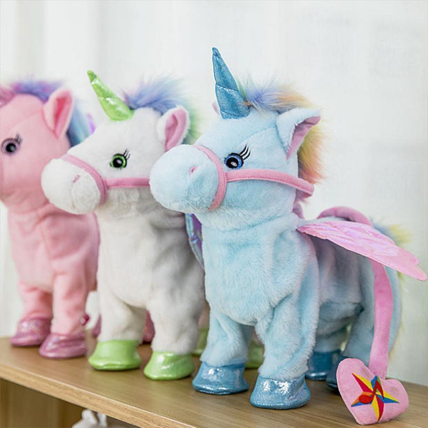 Magic Walking & Singing Unicorn White Magic Walking & Singing Unicorn trendpicky