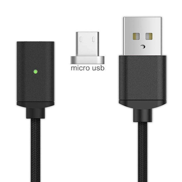 Magnetic Charger Cable Android-Black Magnetic Charger Cable trendpicky