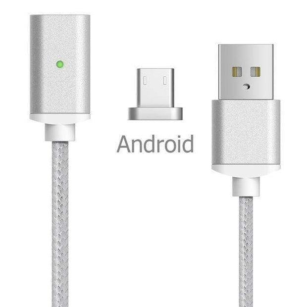Magnetic Charger Cable Android-Silver Magnetic Charger Cable trendpicky