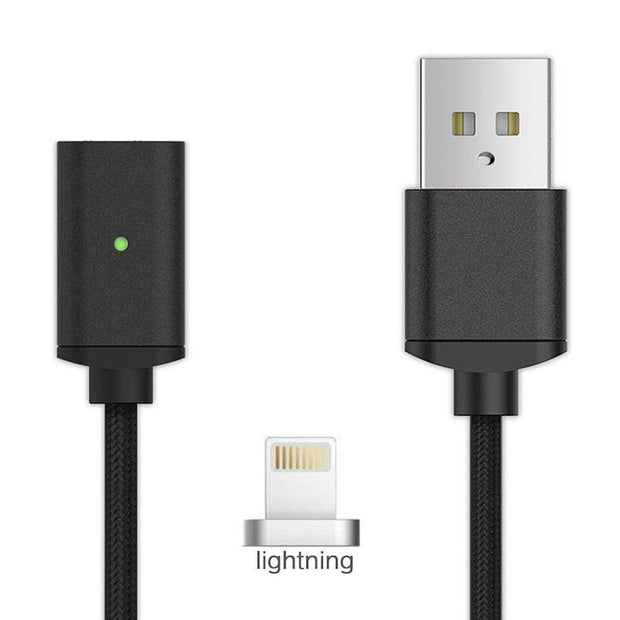 Magnetic Charger Cable IOS-Black Magnetic Charger Cable trendpicky