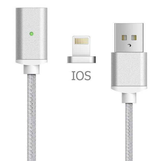 Magnetic Charger Cable IOS-Silver Magnetic Charger Cable trendpicky