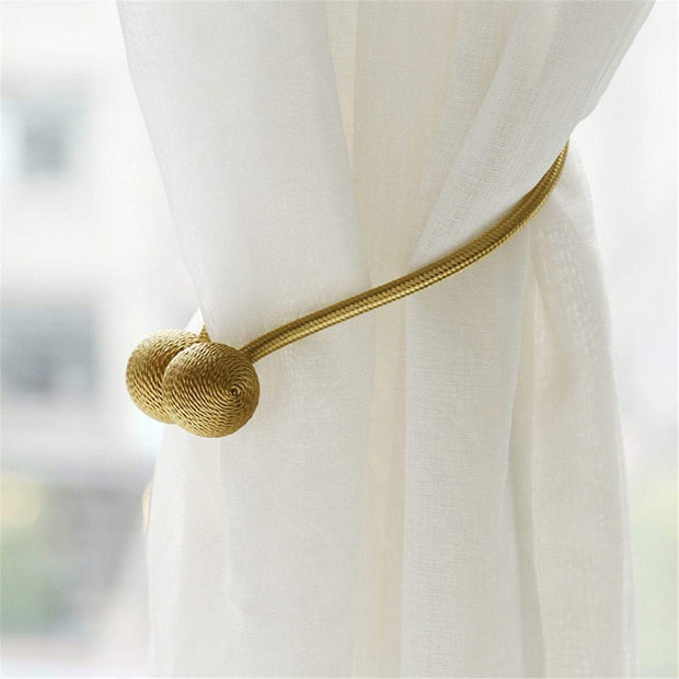 Magnetic Curtain Tieback Set Gold Magnetic Curtain Tieback trendpicky