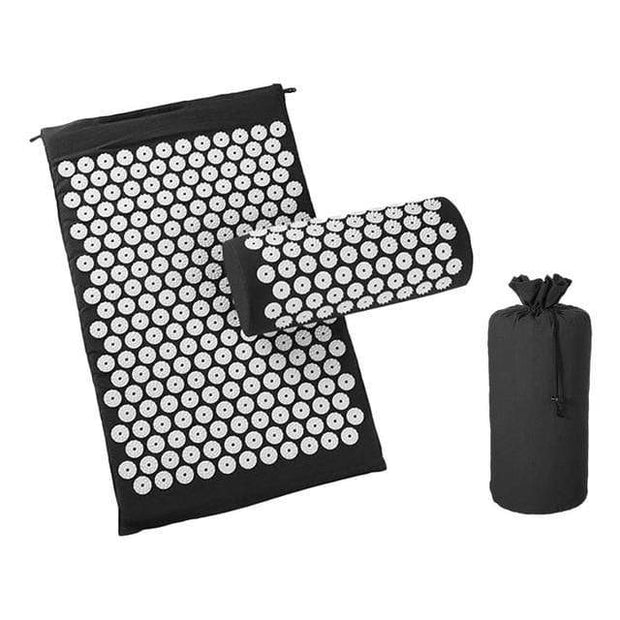 Memory Foam Acupressure Mat with Pillow and Travel Bag Bonus Black / China Home trendpicky