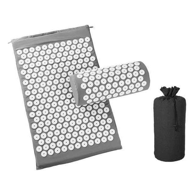 Memory Foam Acupressure Mat with Pillow and Travel Bag Bonus Gray Home trendpicky