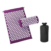 Memory Foam Acupressure Mat with Pillow and Travel Bag Bonus Purple Home trendpicky