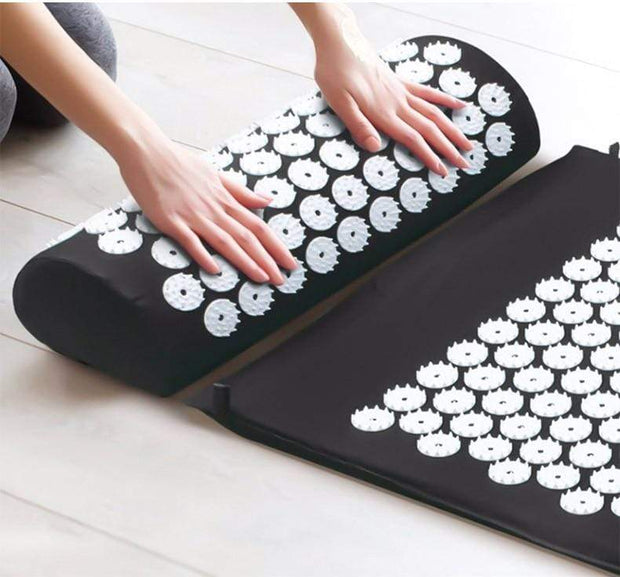 Memory Foam Acupressure Mat with Pillow and Travel Bag Bonus Home trendpicky