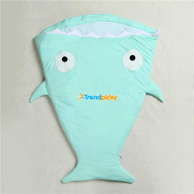 Mr. Shark Baby Sleeping Bag Mint Baby Sleeping Bag trendpicky