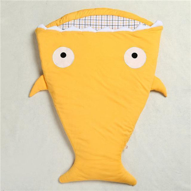 Mr. Shark Baby Sleeping Bag Mustard Baby Sleeping Bag trendpicky